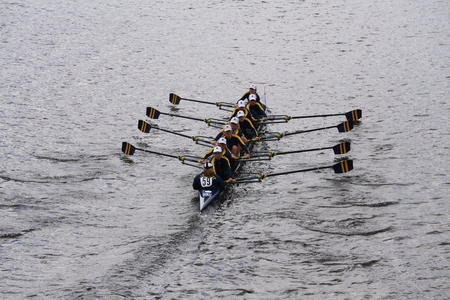 eights: Simsbury races in the Head of Charles Regatta Womens Youth Eights BOSTON - OCTOBER 18, 2015