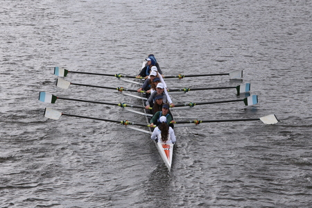 ransom: Ransom Crew races in the Head of Charles Regatta Womens Youth Eights BOSTON - OCTOBER 18, 2015 Editorial