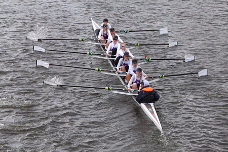 sculling: Putney High races in the Head of Charles Regatta Womens Youth Eights BOSTON - OCTOBER 18, 2015 Editorial