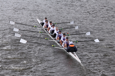 eights: Putney High races in the Head of Charles Regatta Womens Youth Eights BOSTON - OCTOBER 18, 2015 Editorial