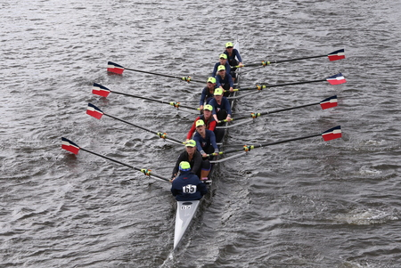 eights: RA-Rye races in the Head of Charles Regatta Womens Youth Eights BOSTON - OCTOBER 18, 2015