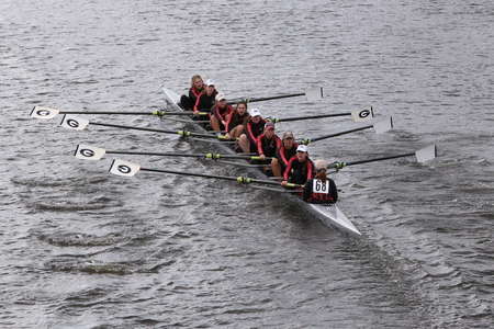 eights: Rye HS races in the Head of Charles Regatta Womens Youth Eights BOSTON - OCTOBER 18, 2015