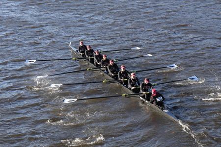 pierce: BOSTON - OCTOBER 23, 2016: Franklin Pierce races in the Head of Charles Regatta Womens Collegiate Eights