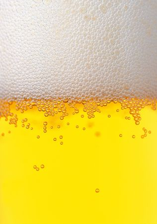 Fresh beer foam bubbled glass texture