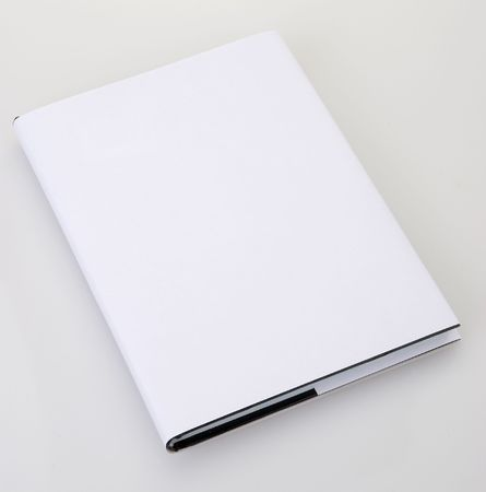 cover book: Blank book cover white