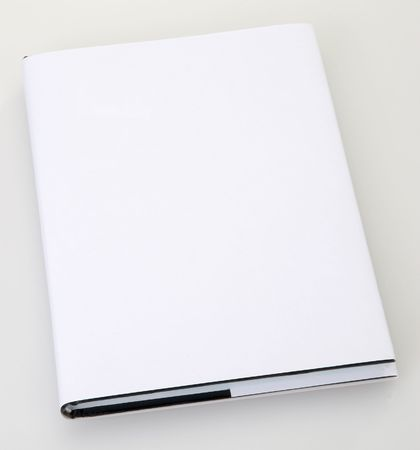 Blank book cover white Stock Photo - 6265431