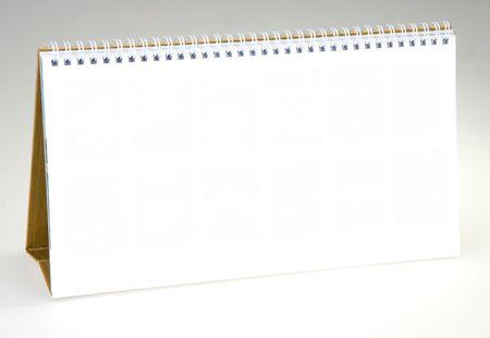 desk calendar: The blank desk Calendar w spiral