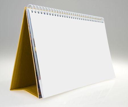 The blank desk Calendar w spiral photo