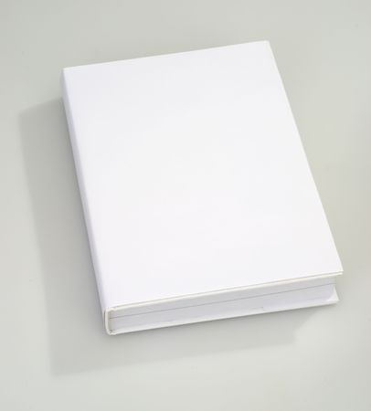 mag: Blank book cover white