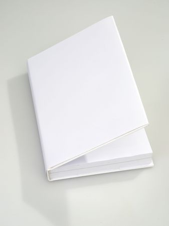 Notitieboek overtrek white Stockfoto