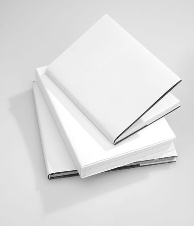 blank book cover: Three Blank book cover white Stock Photo