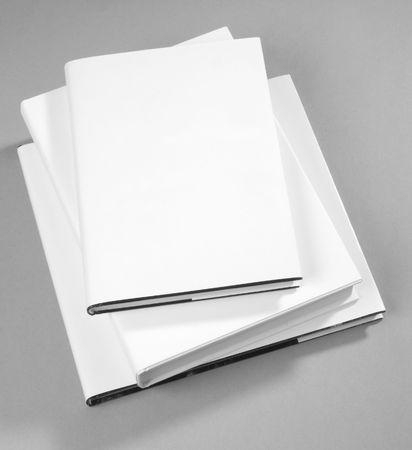 Three Blank book cover white Stock Photo