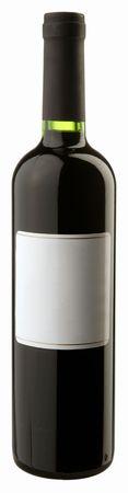 The bottle of red wine w blank sticker Stock Photo - 6265439