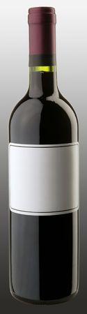The bottle of red wine w blank sticker Stock Photo - 6265434