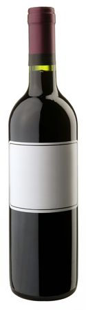 closed corks: The bottle of red wine w blank sticker Stock Photo