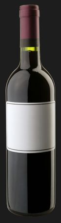 The bottle of red wine w blank sticker Stock Photo - 6265445