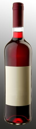 The bottle of red wine w blank sticker Stock Photo - 6265450