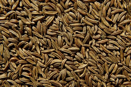 Texture of the Cumin seeds isolated photo