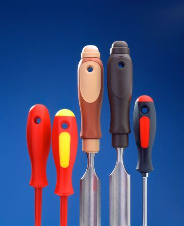 Chisels and screwdrivers in a row 1 Stock Photo - 6280723