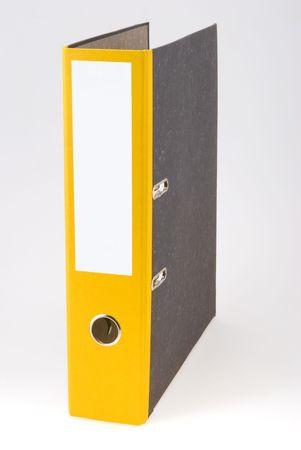 The empty Yellow binder standing alone Stock Photo - 6281276