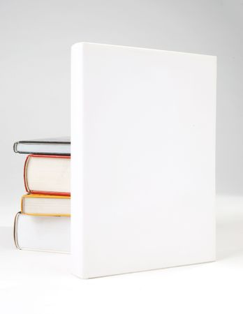 library book: Four Blank book cover on white background