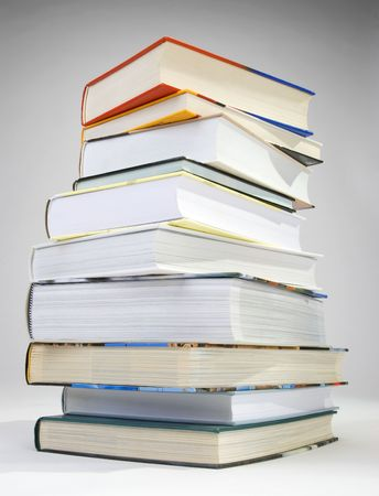 A pile of vaus color of hardcovered books Stock Photo - 6562368
