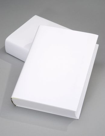 Two thick blank book with white cover