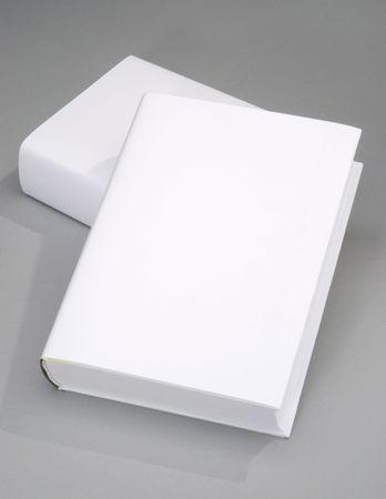 Zwei dicken leer Buch mit weißen Abdeckung Standard-Bild - 6717142