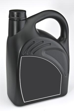 The black plastic bottle of motor oil photo