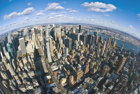 The New York City panorama with 5th Avenue Stock Photo - 7219062