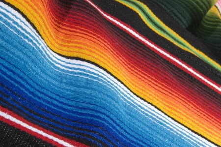 Colorful mexican poncho close up texture