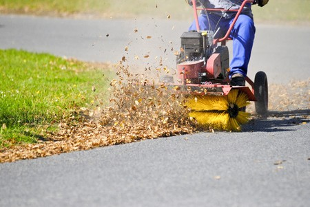 Clean the street of the leaves