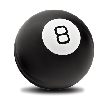 Black Magic Ball with No 8 on the back Stock Photo - 7937786
