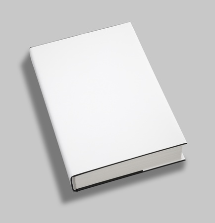 content page: Blank book white cover Stock Photo