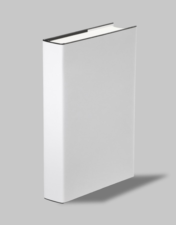 Blank book white cover Stock Photo - 8571236
