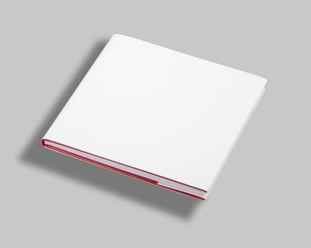mag: Blank book white cover Stock Photo