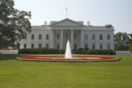 The White House in Washington D.C. Stock Photo