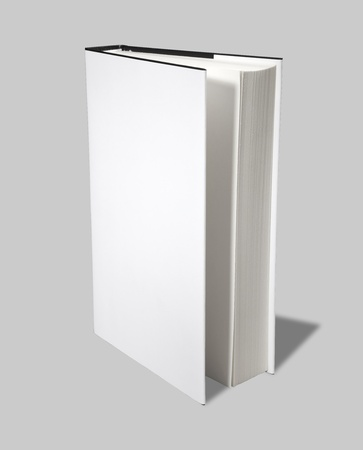 Blank book open cover white Stock Photo