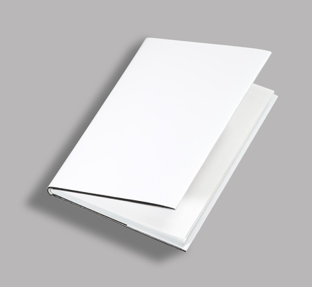 mag: Blank book open cover white Stock Photo
