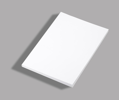 paperback: Blank paperback book white cover