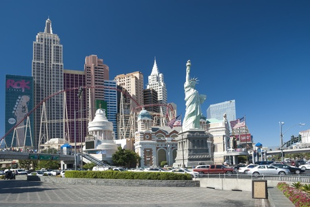 LAS VEGAS - SEPTEMBER 25: New York-New York resort on September 25, 2010. New York-New York are luxury hotels encroach almost 2,5 mil square feet and located on famous Las Vegas strip