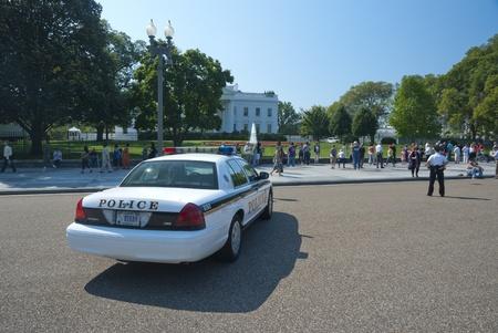 WASHINGTON D.C., WHITE HOUSE - SEPTEMBER 22: The White House on September 22, 2010. The Secret Services guard watch the White House in Washington D.C.