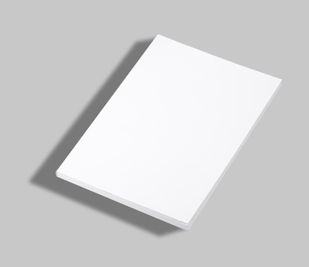 Blank paperback book white cover