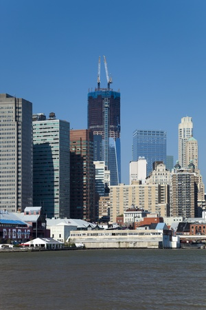 The New York City skyline at afternoon w the Freedom tower Stock Photo - 11242665