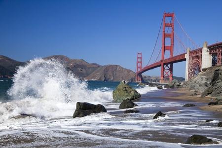 The Golden Gate Bridge in San Francisco bay Editorial