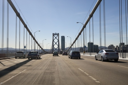 San Francisco Bay bridge traffic Stock Photo - 11240772