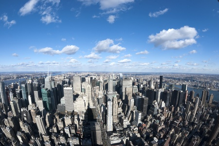 The New York City panorama with 5th Avenue