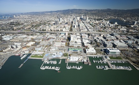 oakland: The Oakland City and the Downtown Stock Photo