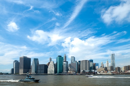 The New York City skyline at afternoon w the Freedom tower Stock Photo - 11384879