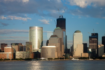 The New York City skyline at afternoon w the Freedom tower Stock Photo - 11393901